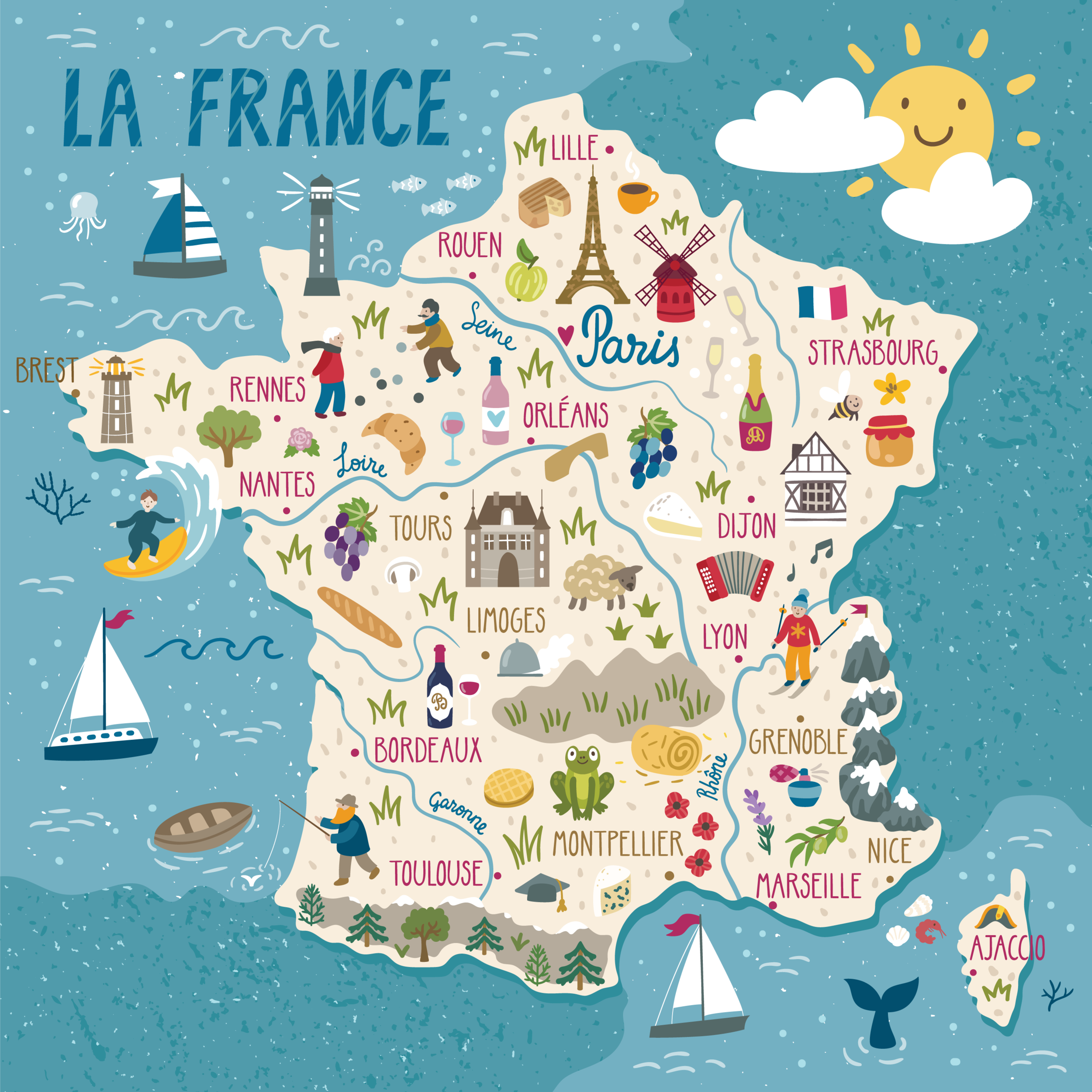 A route through ckbk's French cookbook collection