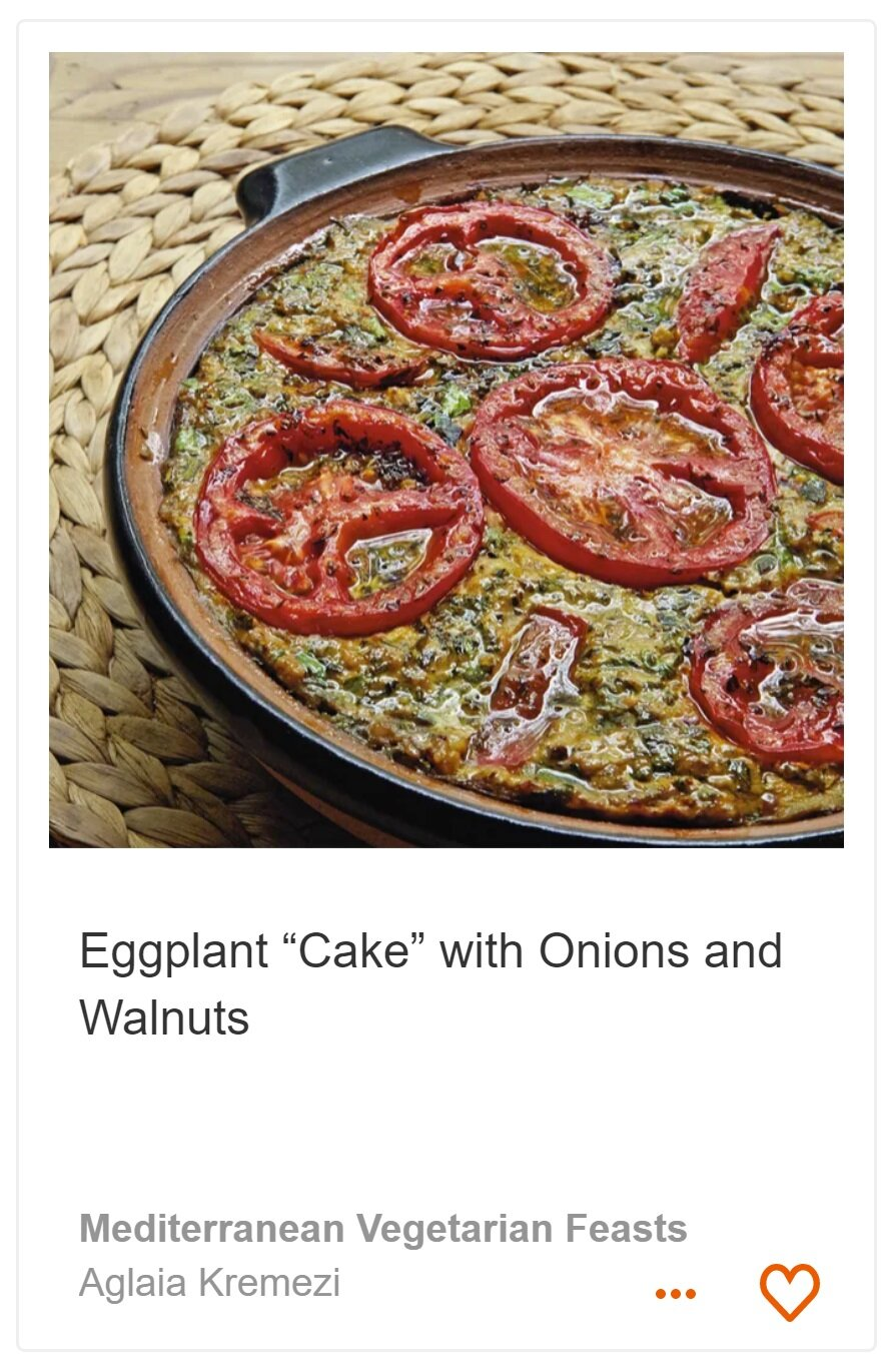 """Eggplant """"Cake"""" with Onions and Walnuts"""