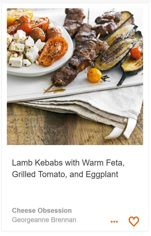 Lamb Kebabs with Warm Feta
