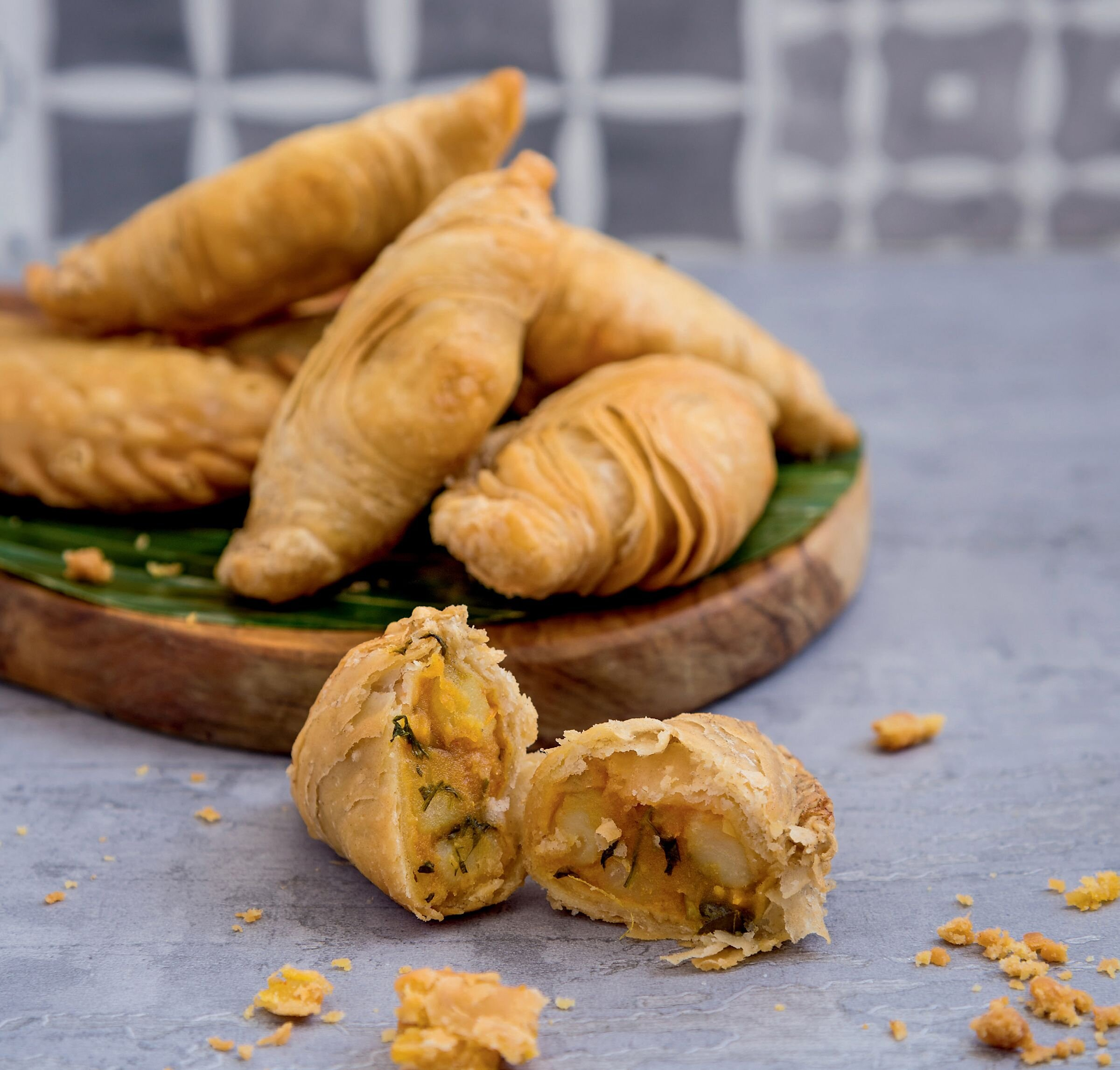 The key to Zaleha's Curry Puffs is getting the thin, flaky pastry just right.