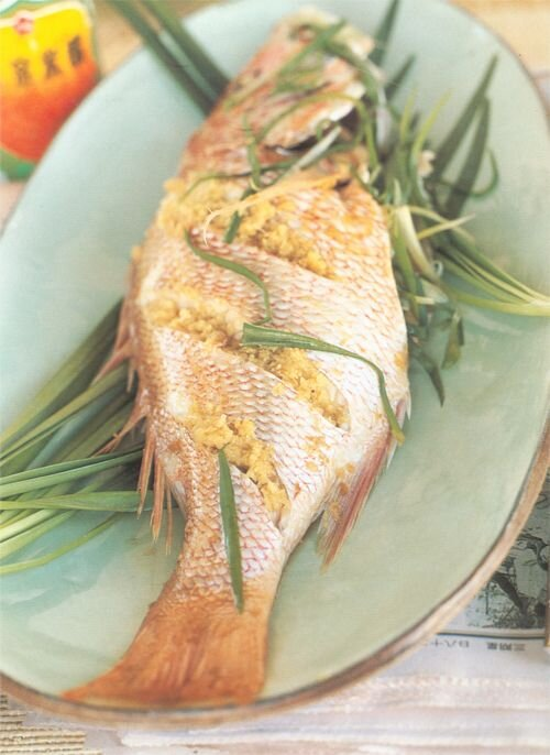 Naomi Duguid's Steamed Whole Fish With Scallions And Ginger