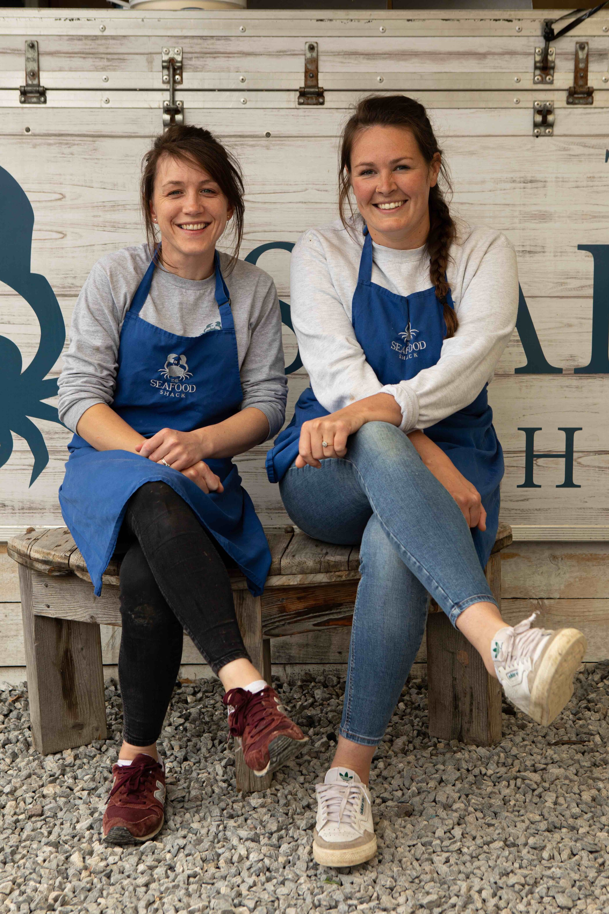Seafood Shack co-owners and authors Fenella and Kirsty. Photograph: Clair Irwin