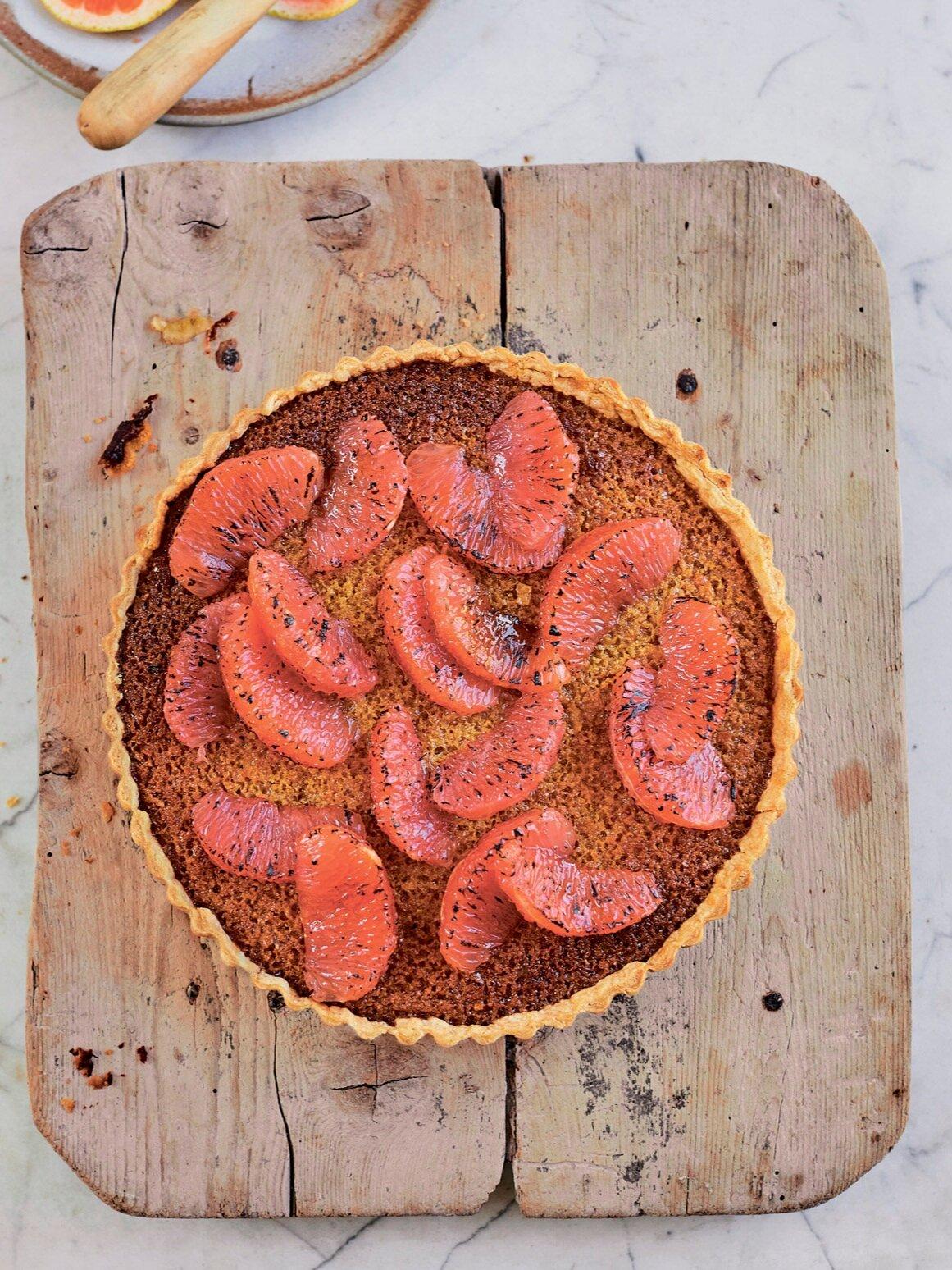 Grapefruit Treacle Tart