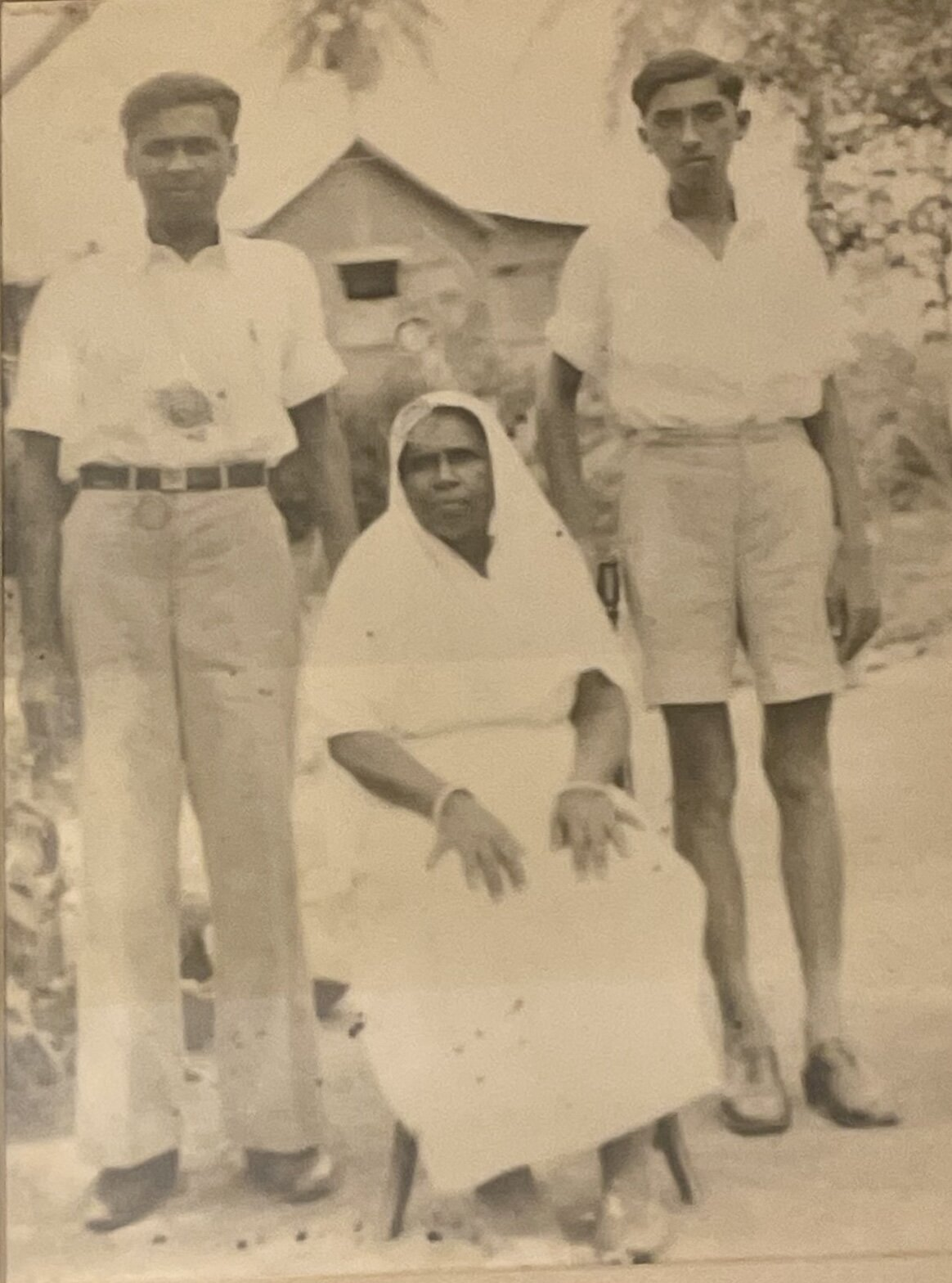 My father (right) as a teenager in Trinidad