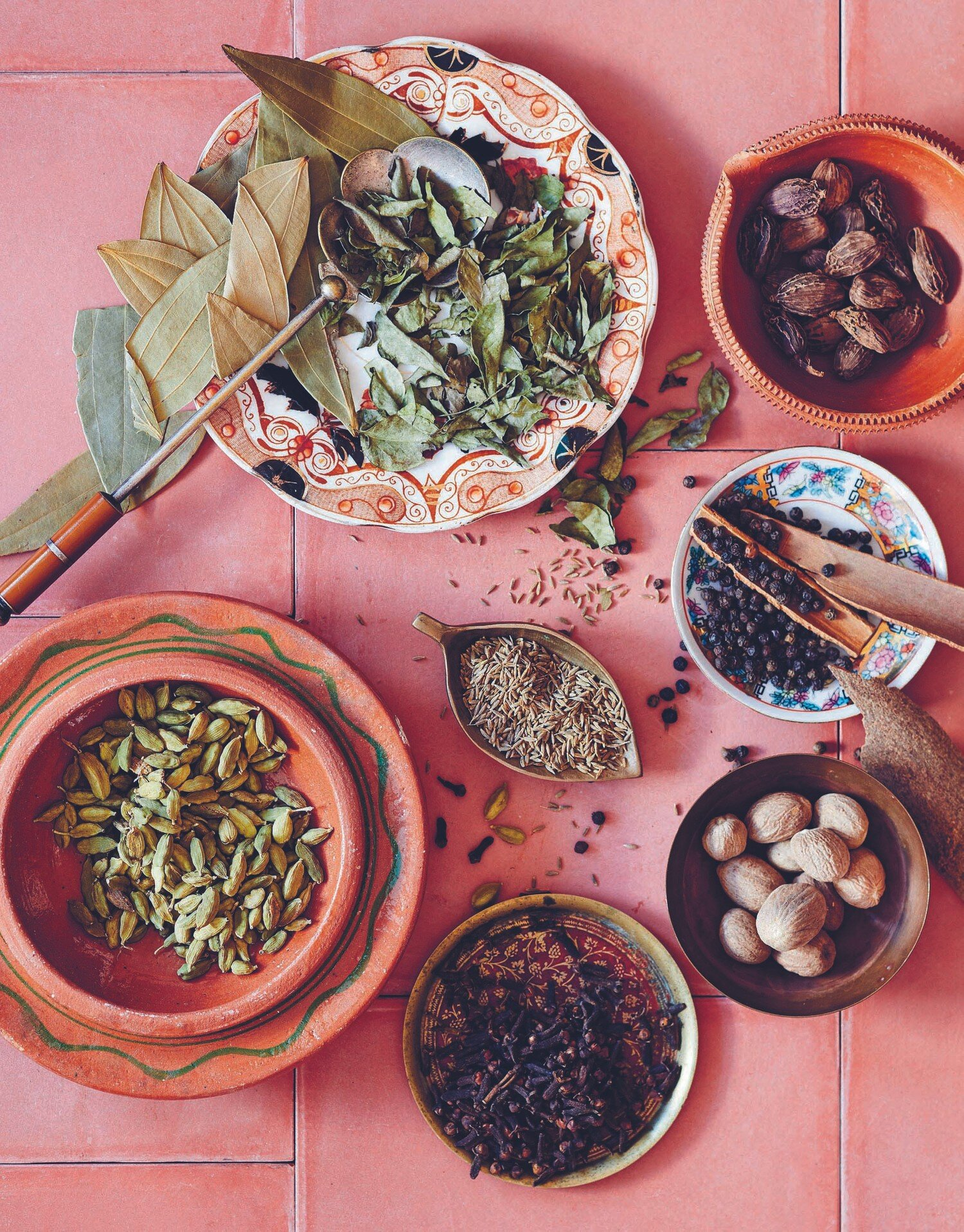 Chaar masalah , a blend of four spices, is used liberally to give Afghan food its flavor.
