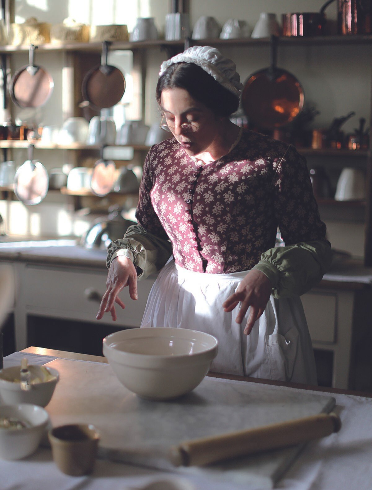 Avis Crocombe in he kitchen at Audley End House
