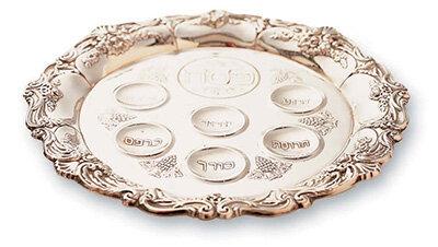 A ritual Seder plate.