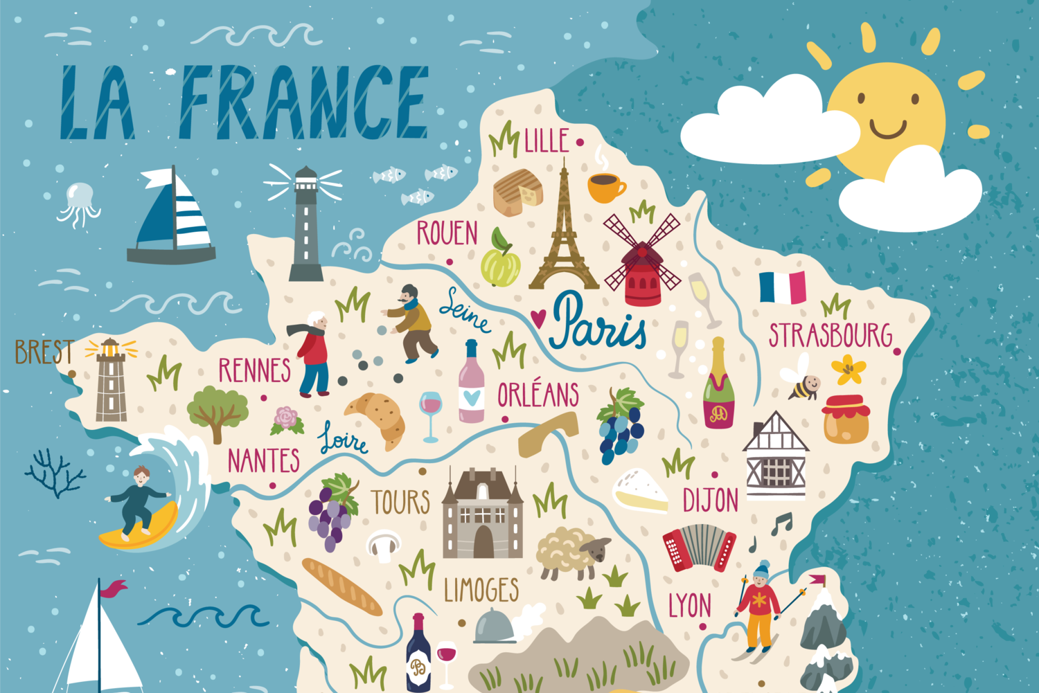 A map of France