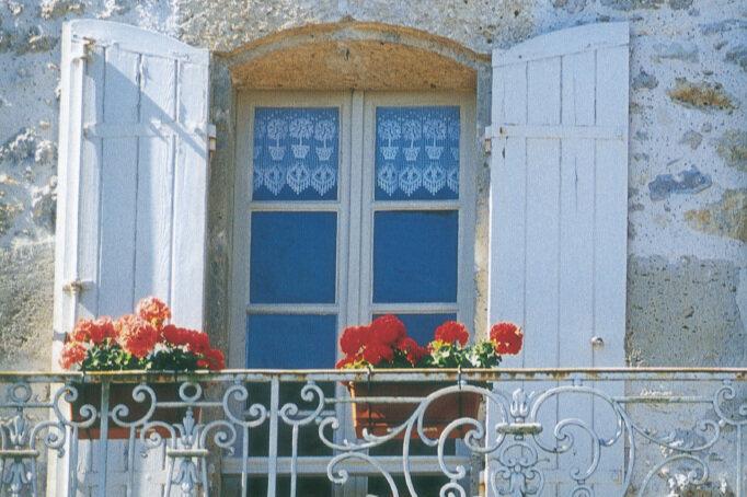 A village scene in France