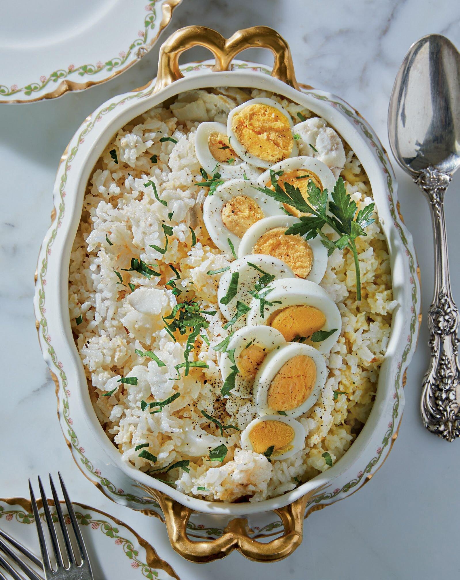 Kedgeree: the quintessential breakfast dish at Downton Abbey.
