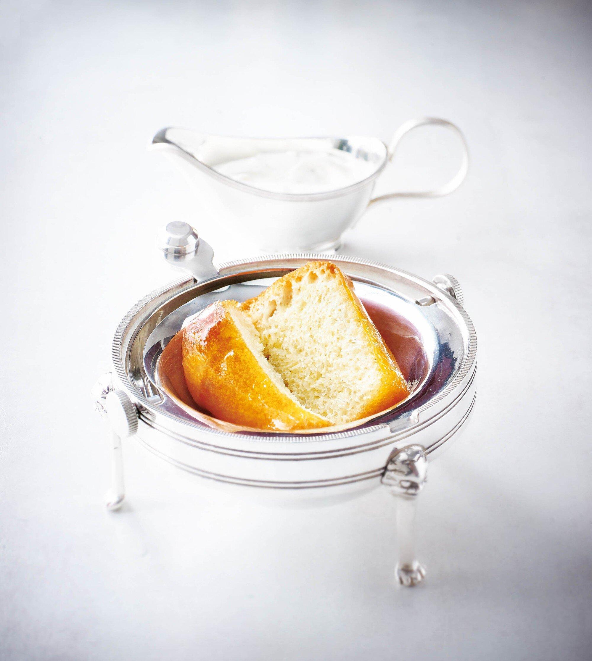 This Rum Baba is Alain Ducasse's favorite dessert.