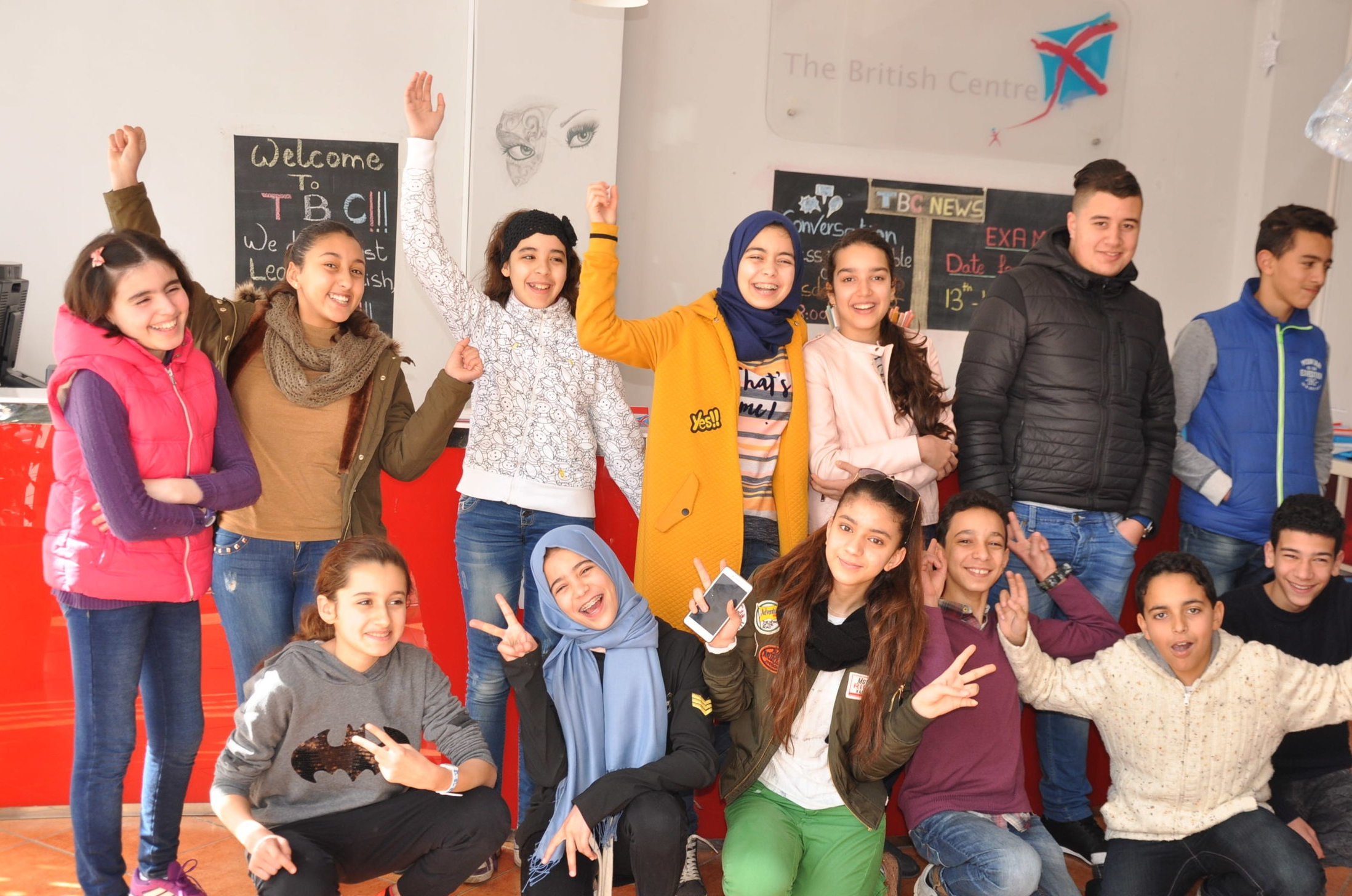 Teens - Teenagers at the Tetouan British Centre enjoy a stimulating and inventive programmes