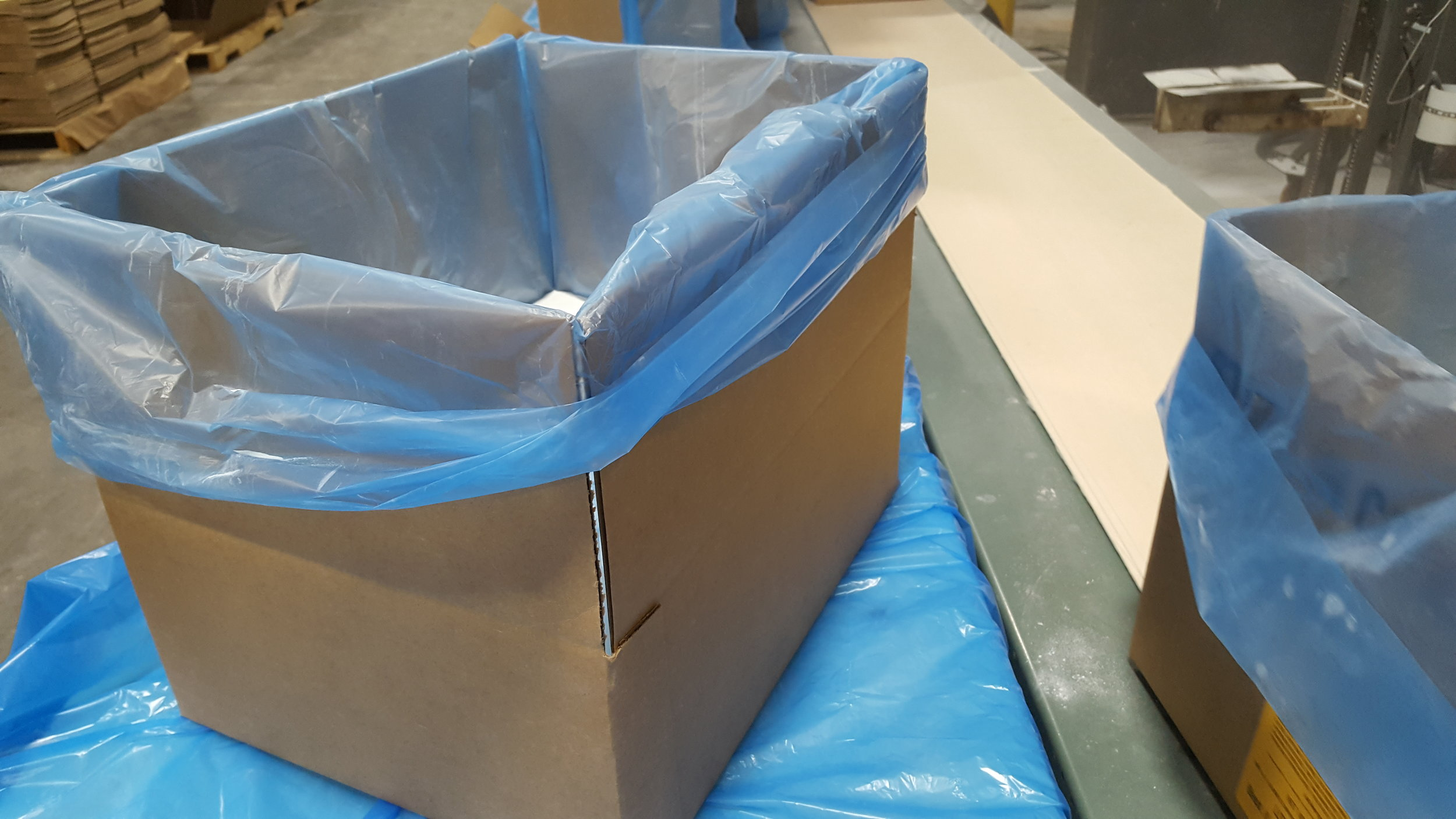 Plastic bag in a box - 20-50 pounds