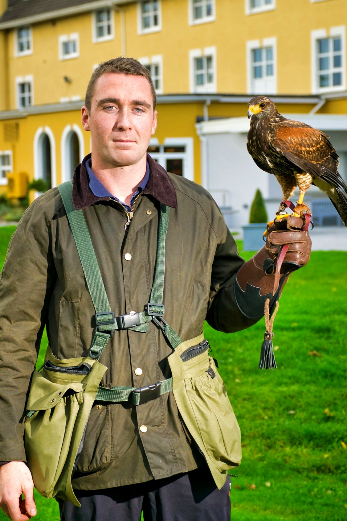 Hawk Walks - An exclusive private hawk walk (with owl encounter) is an opportunity to get to be a falconer for a day. This is a unique and fantastic experience that can be enjoyed by everybody. Whether you are an outdoors person/naturalist or more of an indoors person who only occasionly feels drawn to the natural world, you will be enthralled by the experience of having a close encounter with these magnificent birds.No prior falconry experience is necessary. It involves a leisurely stroll, through the meadows of a working farm, with Killarney's famous mountain range visible in the background. We are situated just outside Killarney town. A hawk walk is family friendly and suitable for all ages and fitness levels.Initially you will be introduced to the hawk or hawks and as soon as you are comfortable, you can cast it free from your hand, with the assistance of your own personal guide.Bond with a free flying hawk as he/she comes swooping from the old Irish oak trees to alight on your hand at your command. After the walk has finished, some of our friendly owls can be handled and fed (owls are the most original photobombers!) .