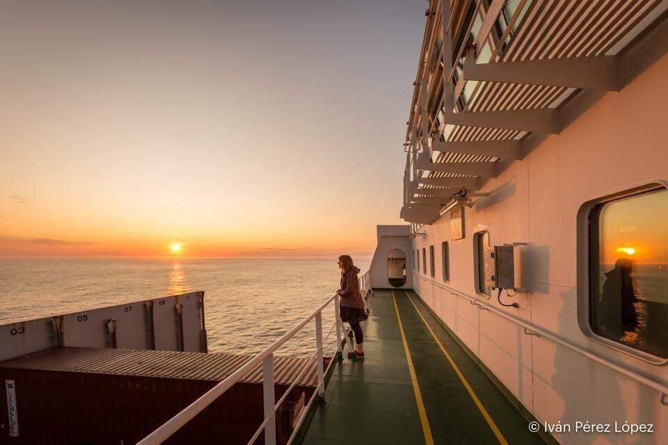 Rachel aboard 'Atlantic Sea'