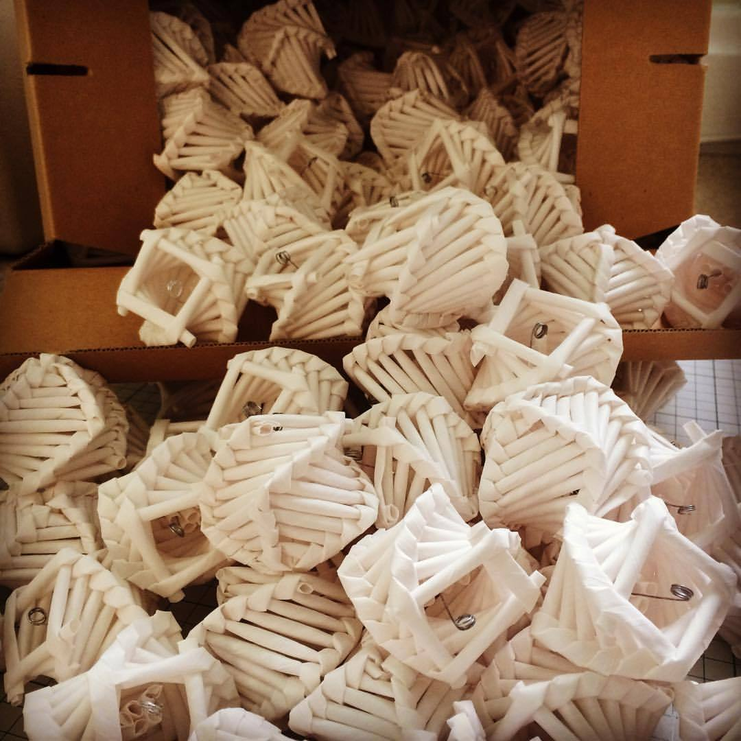 Been busy making over 200 individual paper corn dollies for an installation for charity DAST and their Action Mesothelioma Day on the 7th July