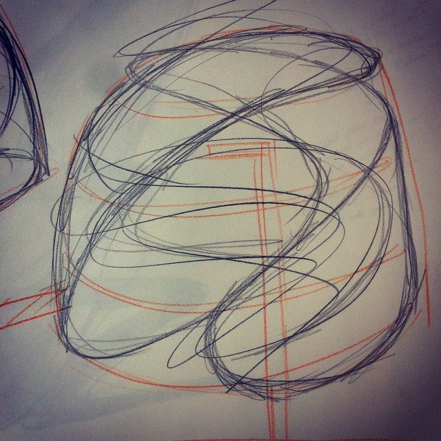 Sketch for first woven wax work on a plaster block #plaster #Ashbourne-residency
