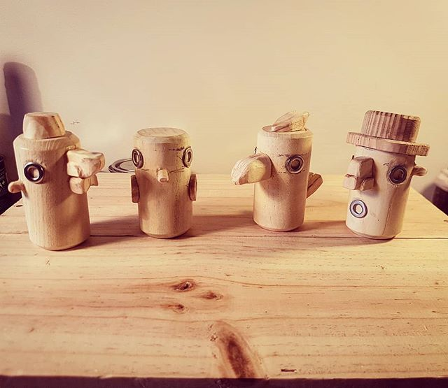 HELLO AGAIN! I'm a total daftie and lost my phone in Amsterdam last week so finally I'm back and have news!  I've been asked a lot since starting about making some smaller more affordable products so I've put together some mini shakers! They're still a #wip and need to be painted but theyll be up soon in ze shop and maybe elsewhere too!  Nice to be back!  #helloagainoldfriends #idiotinamsterdam #handmadeshakers #percussion #affordableart #handmadeart #creativeedinburgh #woodcarving #shakers #handmadeinstruments #creativeedi