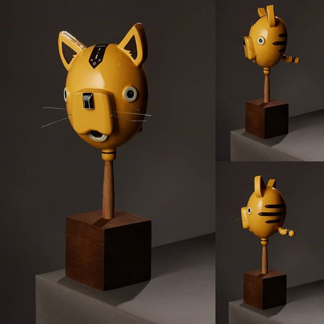 This is Oozo the Cat maraca  Theres still time to go visit him at the #projectsummerhall show at @summerhallery or if youd like to give him a permanent home, you can visit my website (link in bio 🤙)