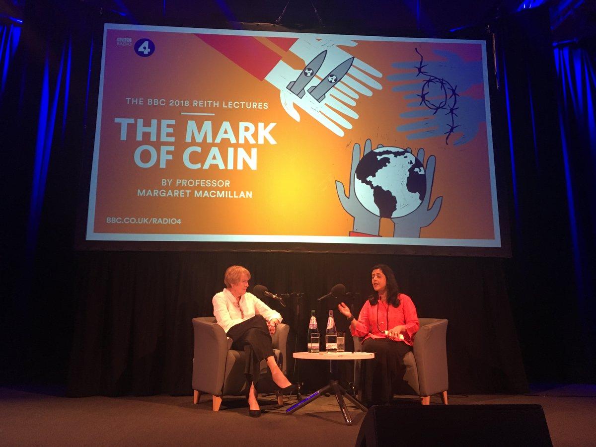 Professor Margaret MacMillan with interviewer  Anita Anand