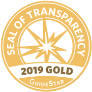 We are proud to again be awarded the  guidestar gold seal of transparency  for 2019