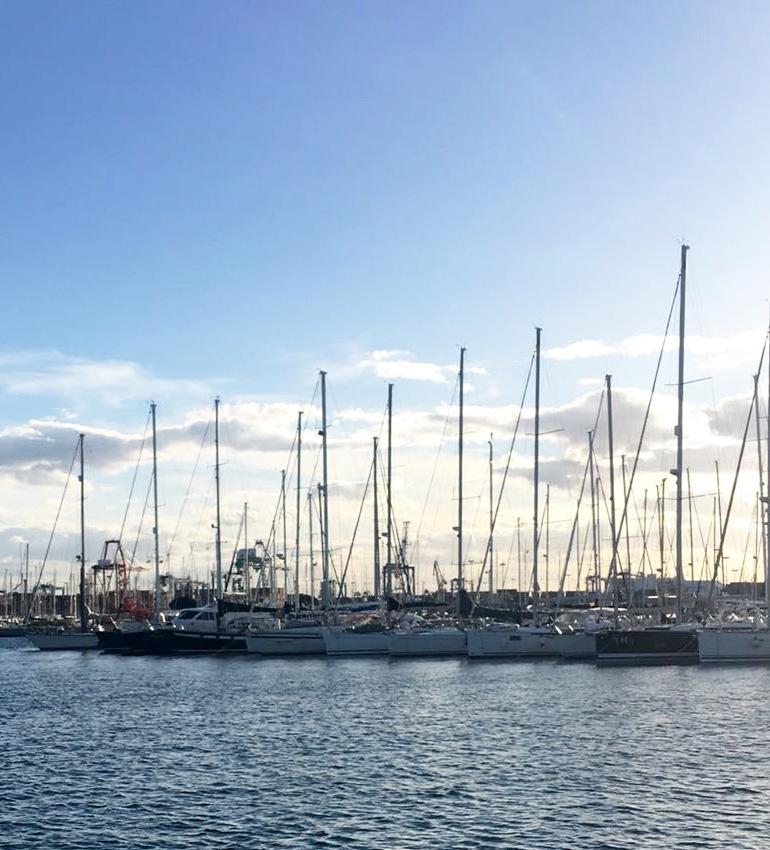 Puerto de València, where the sailboats of Traslatio 21 will dock.