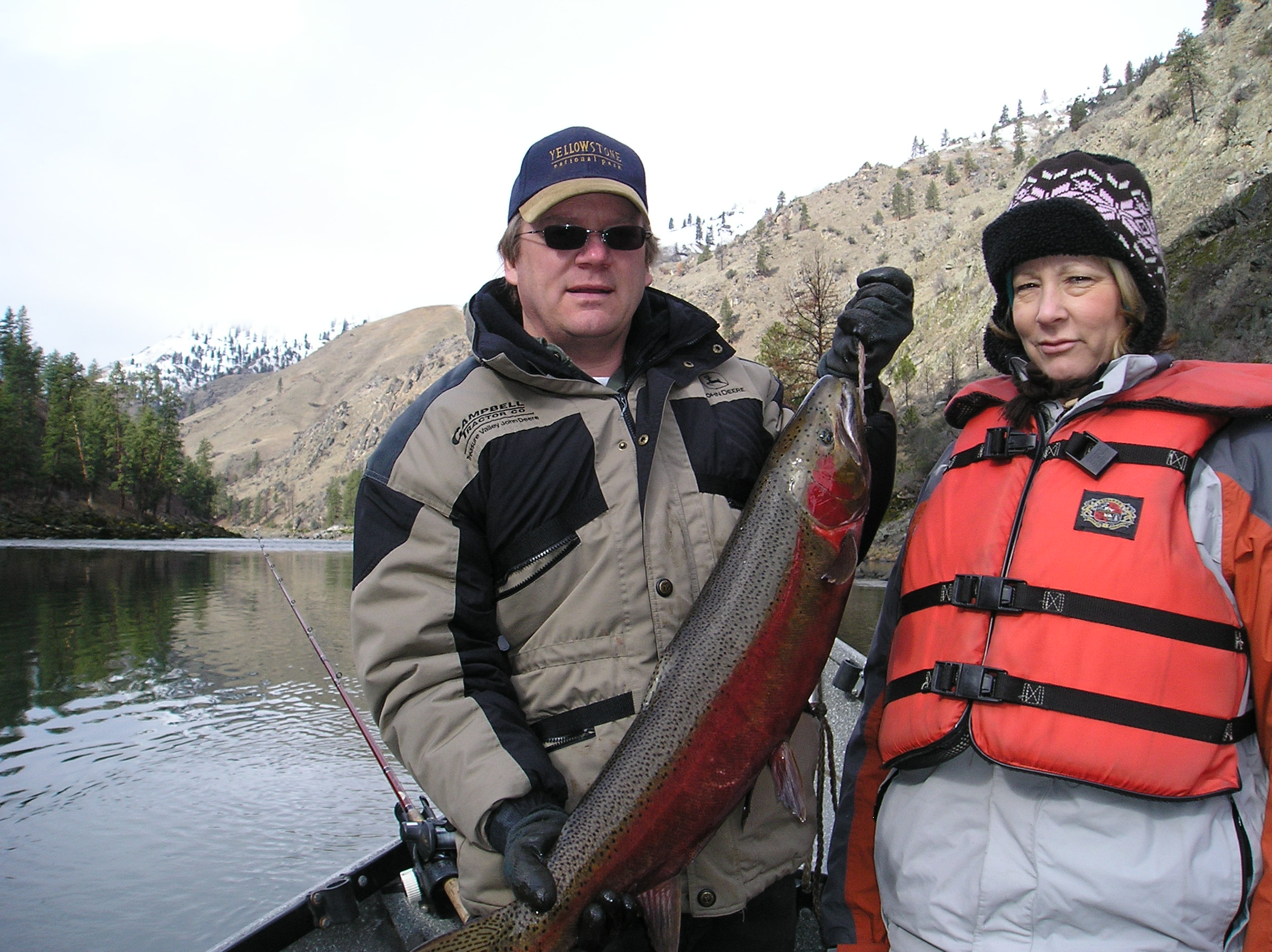 Steelhead    Native Idaho Steelhead in excess of 40 inches and weighing over 20 lbs. is one of the Salmon River's signature sport fish. The hatchery fish make excellent table fare and the season and limits are normally quite liberal.