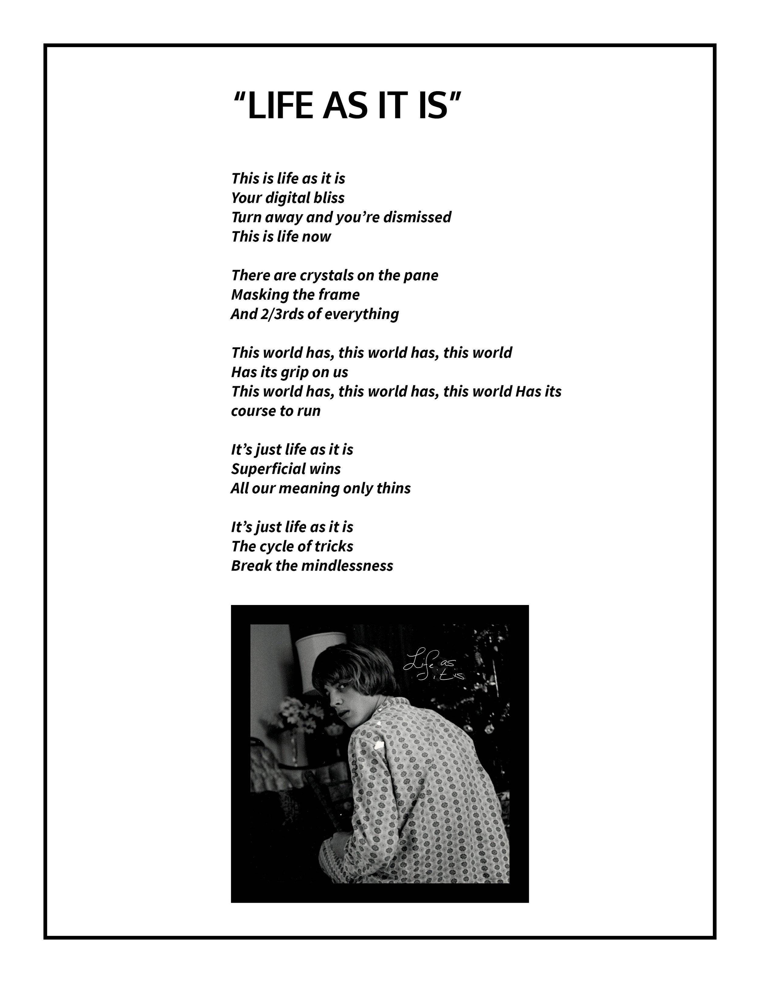 Life as it is Lyrics
