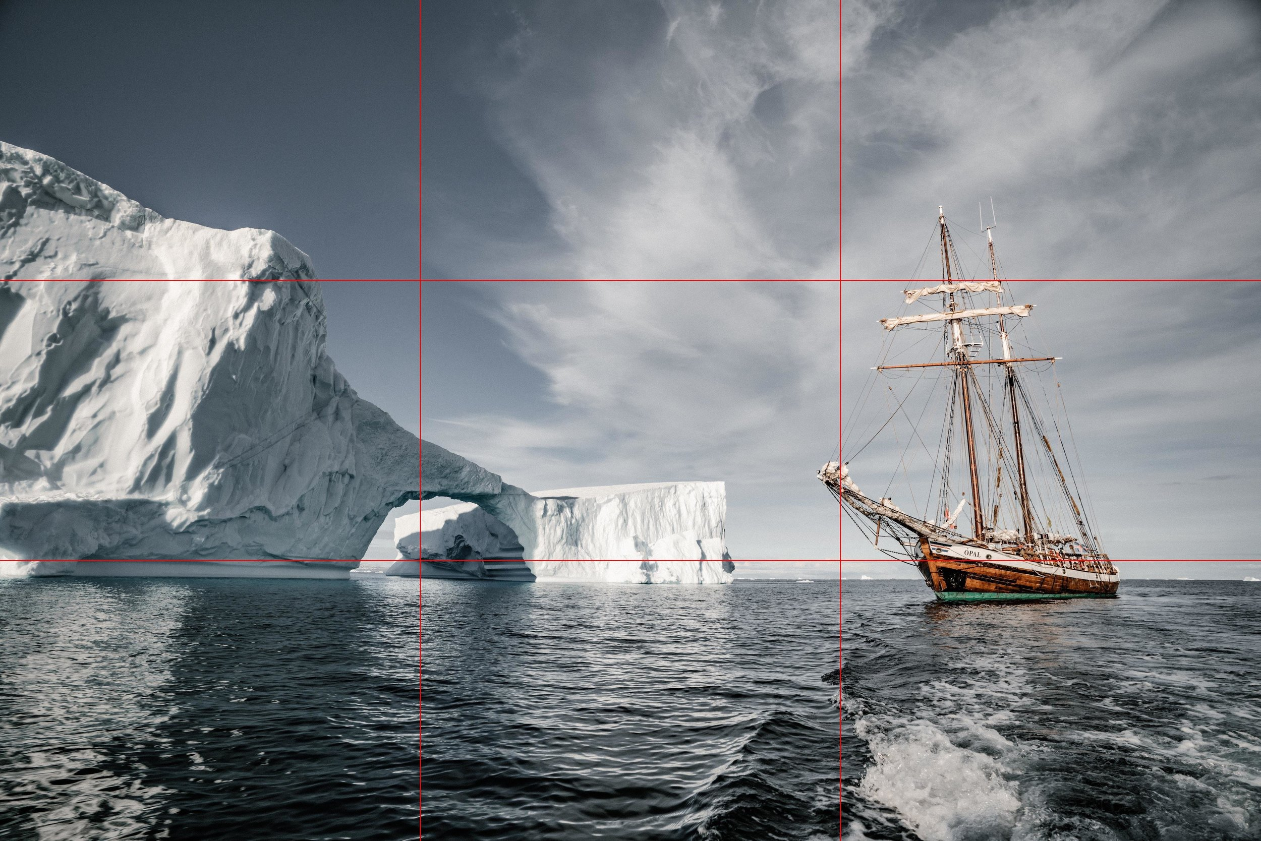 Photo showing the rule of thirds in photography composition.