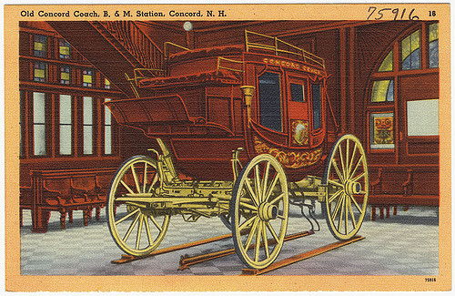 To many the Concord Coach is the symbol of the Old West. It took its name from the city, and went on to star in countless Westerns, conjuring up images of adventure.