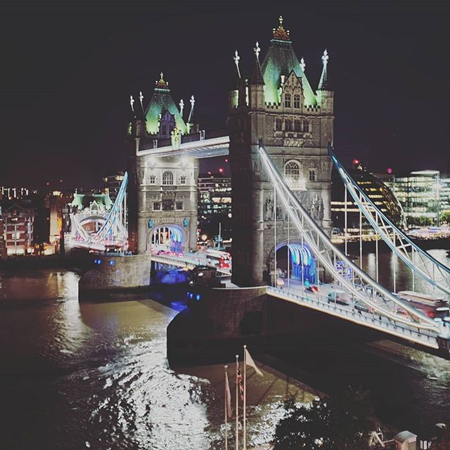 View of Tower #Bridge in #London at night.
