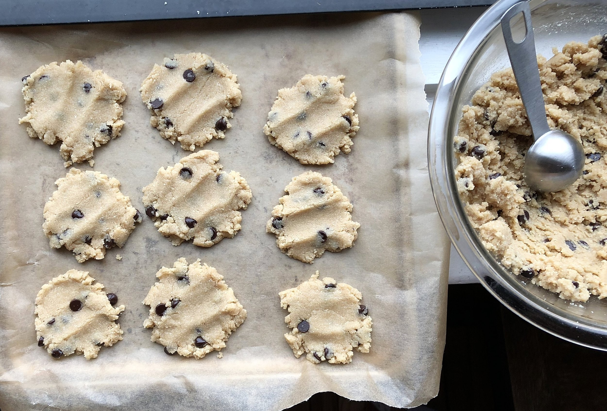 Pre oven!!! This batch I made with out the coconut shreds!!
