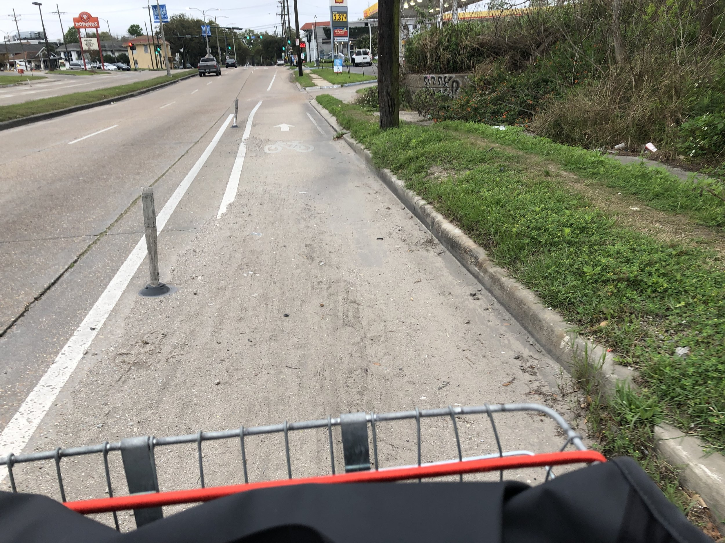 Bike Lane on Gentilly Blvd.