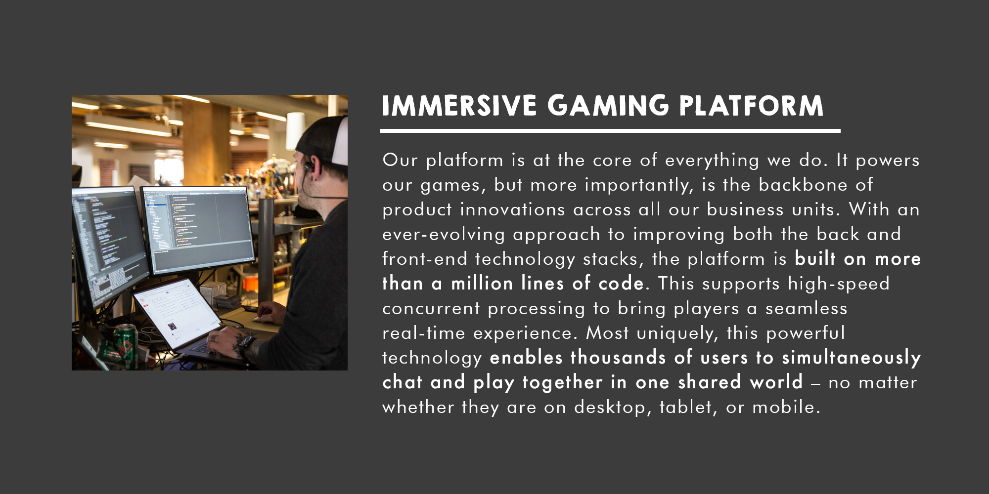 Immersive Gaming Platform