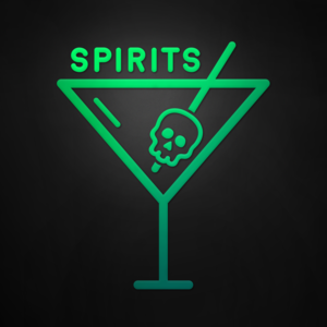 Spirits  is a boozy podcast about mythology, legends, and lore. Learn brand-new stories and enjoy re-tellings of your favorite myths, served over ice every week, on Spirits. (Co-host, Co-Producer, Co-Founder)