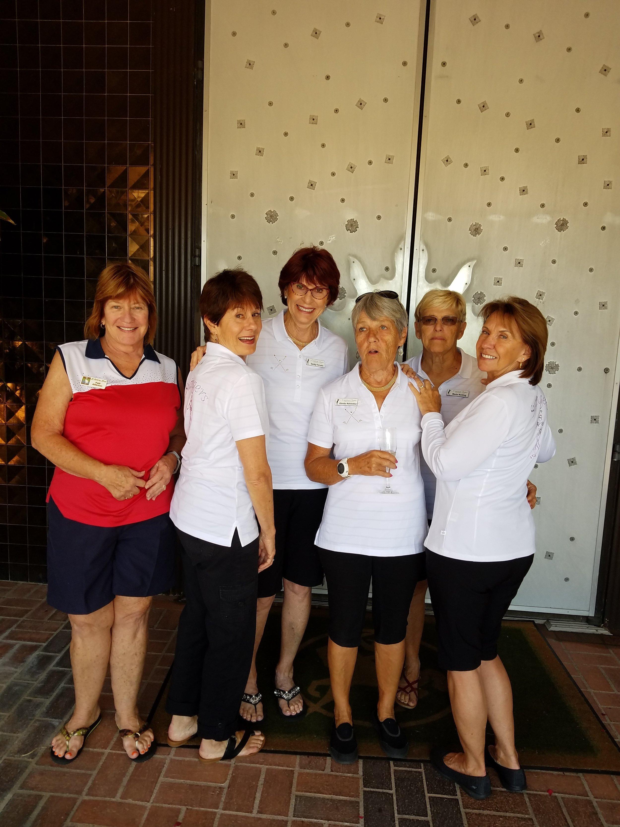 Left to right are: Patti Alderson, Sue Lagomarsino, Sandy Ferrario, Glenda Hoffstetter, Marie Nutting and Conni Warren.