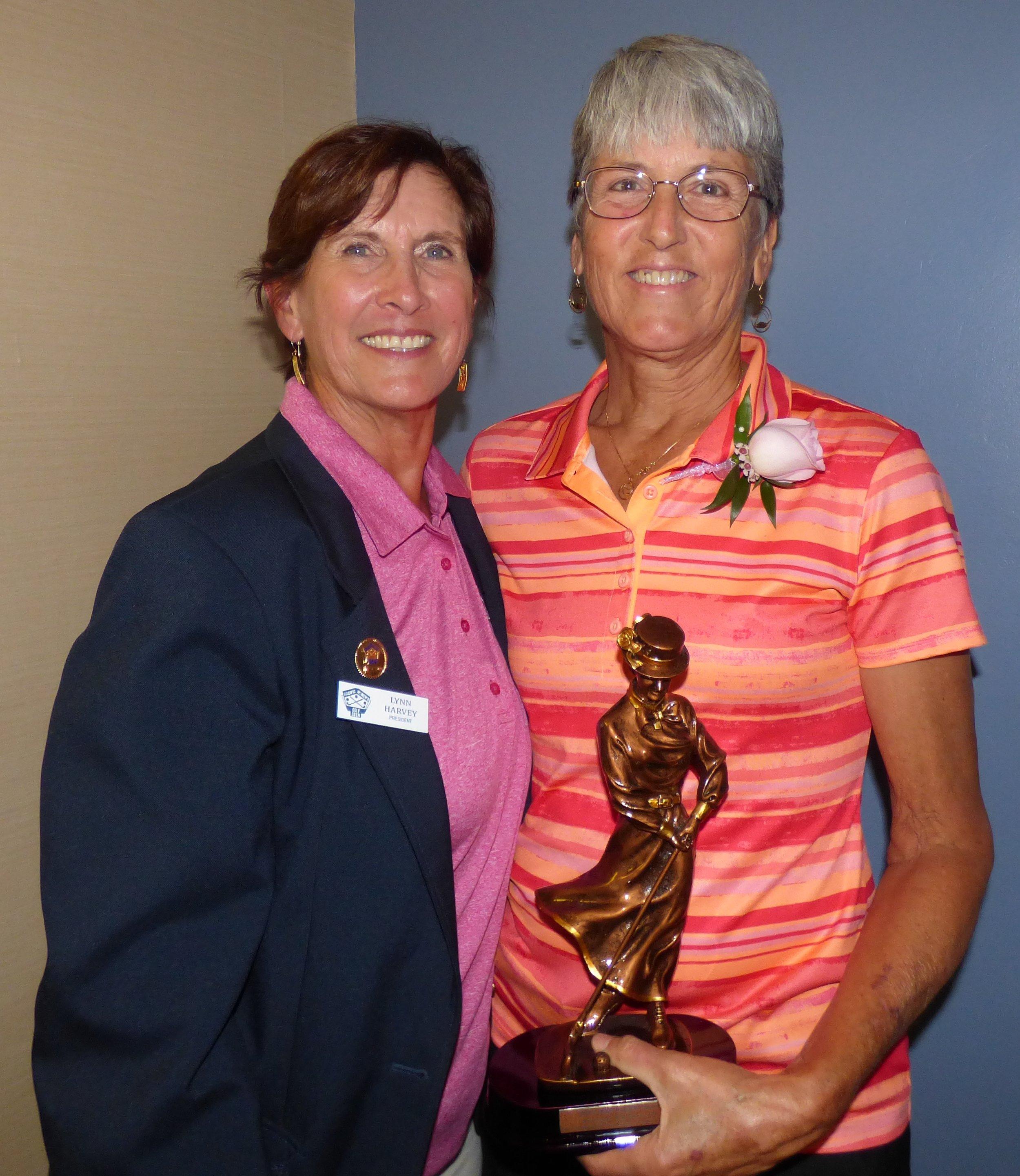 Kay Robinson Award Recipient with 2018 PWGA President Lynn Harvey