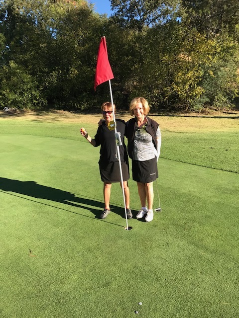 From left to right: Susan Miller and Sharon Greene, 4th Hole, Diablo Hills