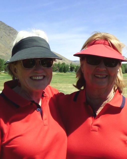 Rosemary Adams and Pamela Adams