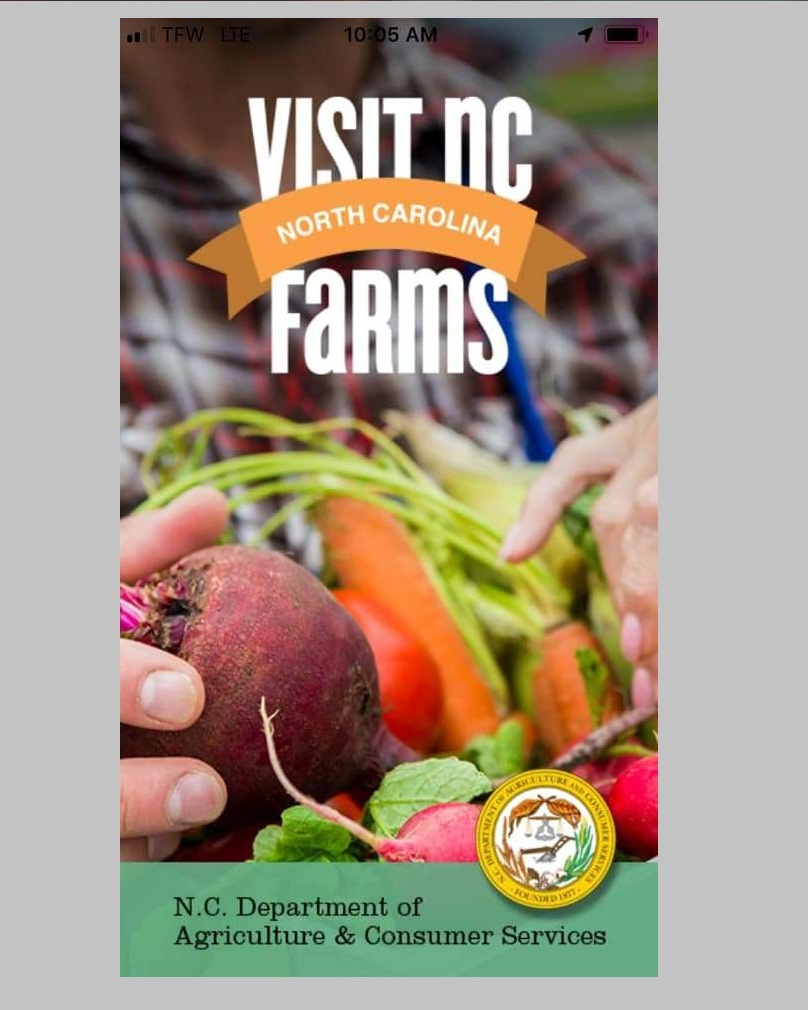Look-up more farm experiences with the VisitNCfarms app