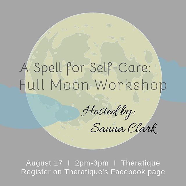 Visit Theratique's Facebook page to reserve your spot for Sanna's workshop 🌕.⠀ .⠀ .⠀ #selfcare #workshop #selfcareworkshop #theratique #midcityneworleans #midcitynola #4440canalstreet