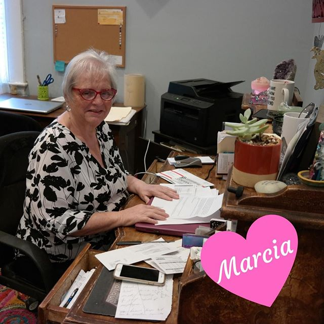 Recognize this lady? Marcia's the first person you see when you walk through the door at Theratique. We ❤️ Marcia, Marcia, Marcia.⠀ -⠀ -⠀ #firstpersonyousee #holdingdownthefort #admin #theratique