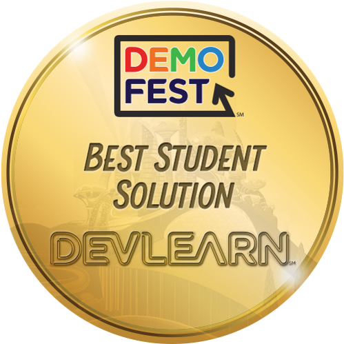 DemoFest at DevLearn - DevLearn is a conference hosted by the eLearning Guild in Las Vegas. Jazzy Cat was voted best student solution during DemoFest.