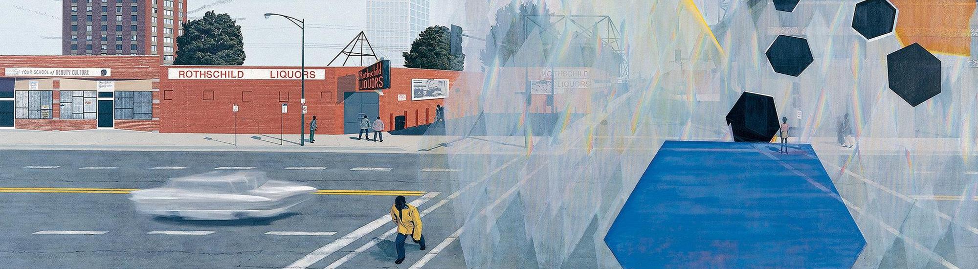 Kerry James Marshall,  7am Sunday Morning , acrylic on canvas, 2003 (detail)