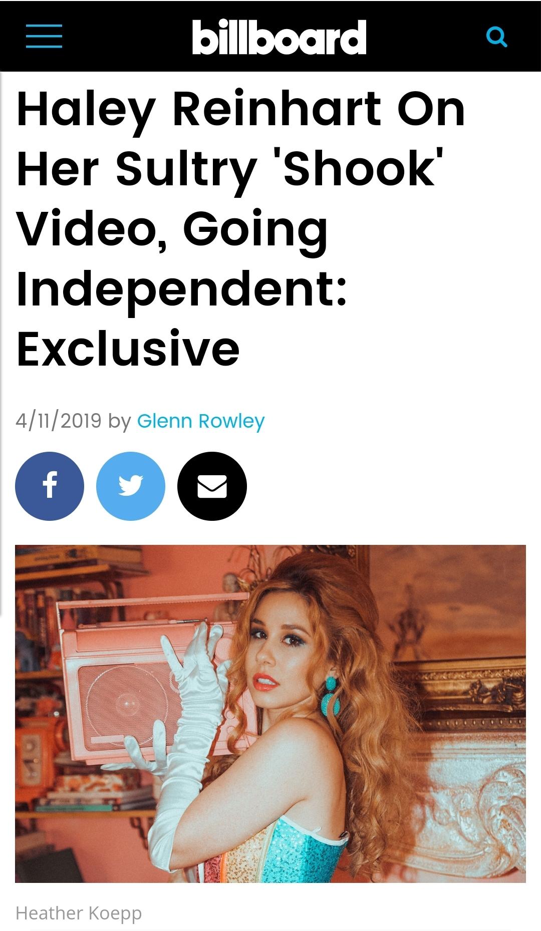 Billboard - https://www.billboard.com/articles/columns/pop/8506455/haley-reinhart-interview-shook-video