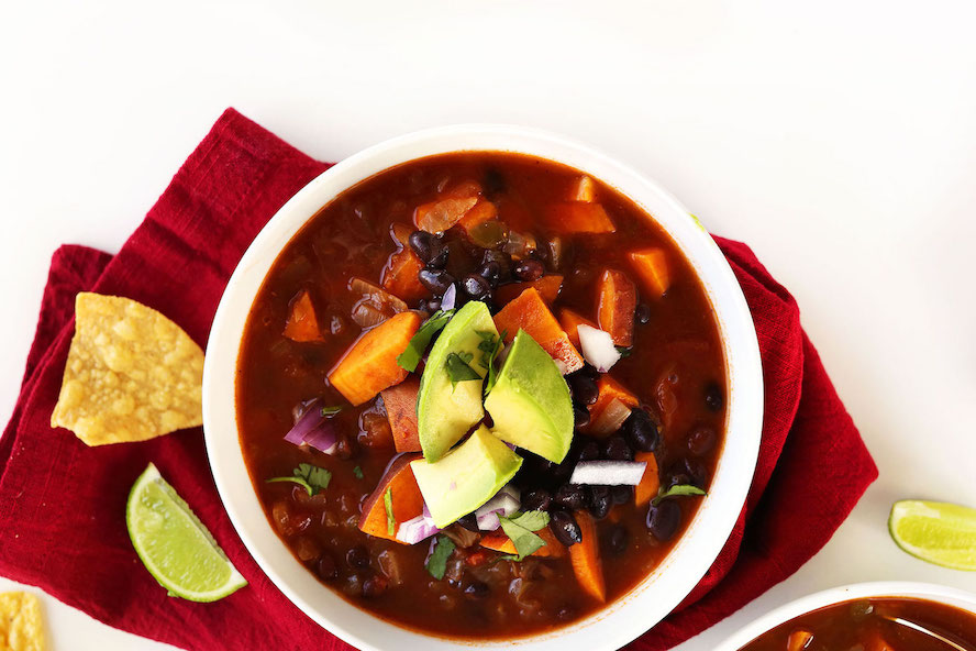 5 Ingredient Sweet Potato Black Bean Chili