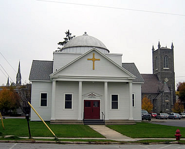 St Nicholas Greek Orthodox Church in Downtown Rutland, Vermont.