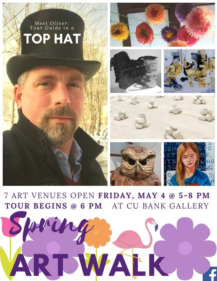 The 2018 Spring Art Walk in Downtown Rutland, Vermont, is on May 4th from 5-8pm.