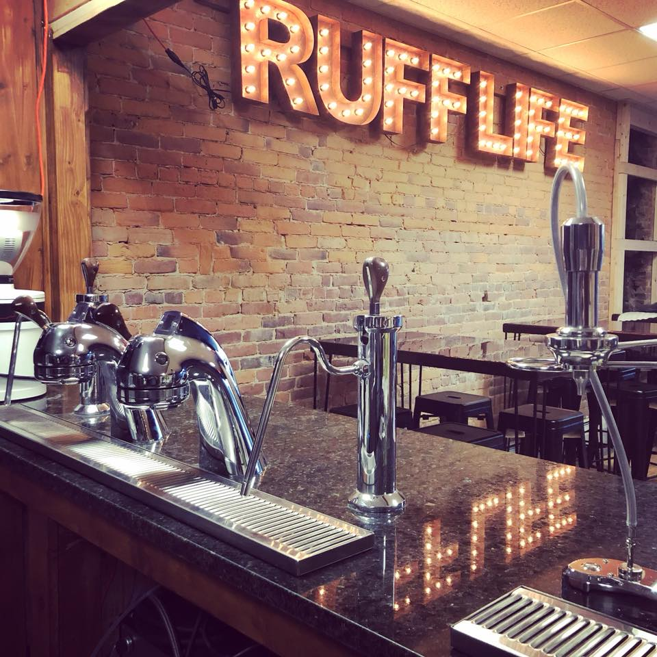 A view of the interior of Ruff Life Coffee on Center Street.