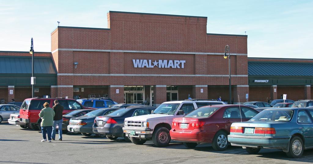 An image of Walmart in Rutland, Vermont.